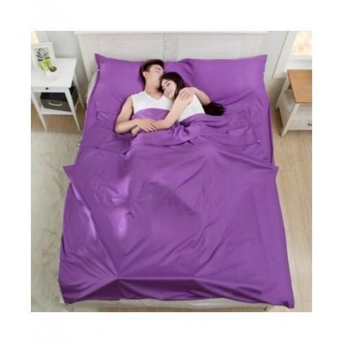 MULTIFUNCTION DOUBLE PROTECTIVE COTTON SLEEPING BAG Purple