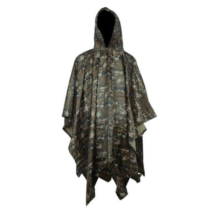 Multifunction Waterproof Camo Raincoat color:#2