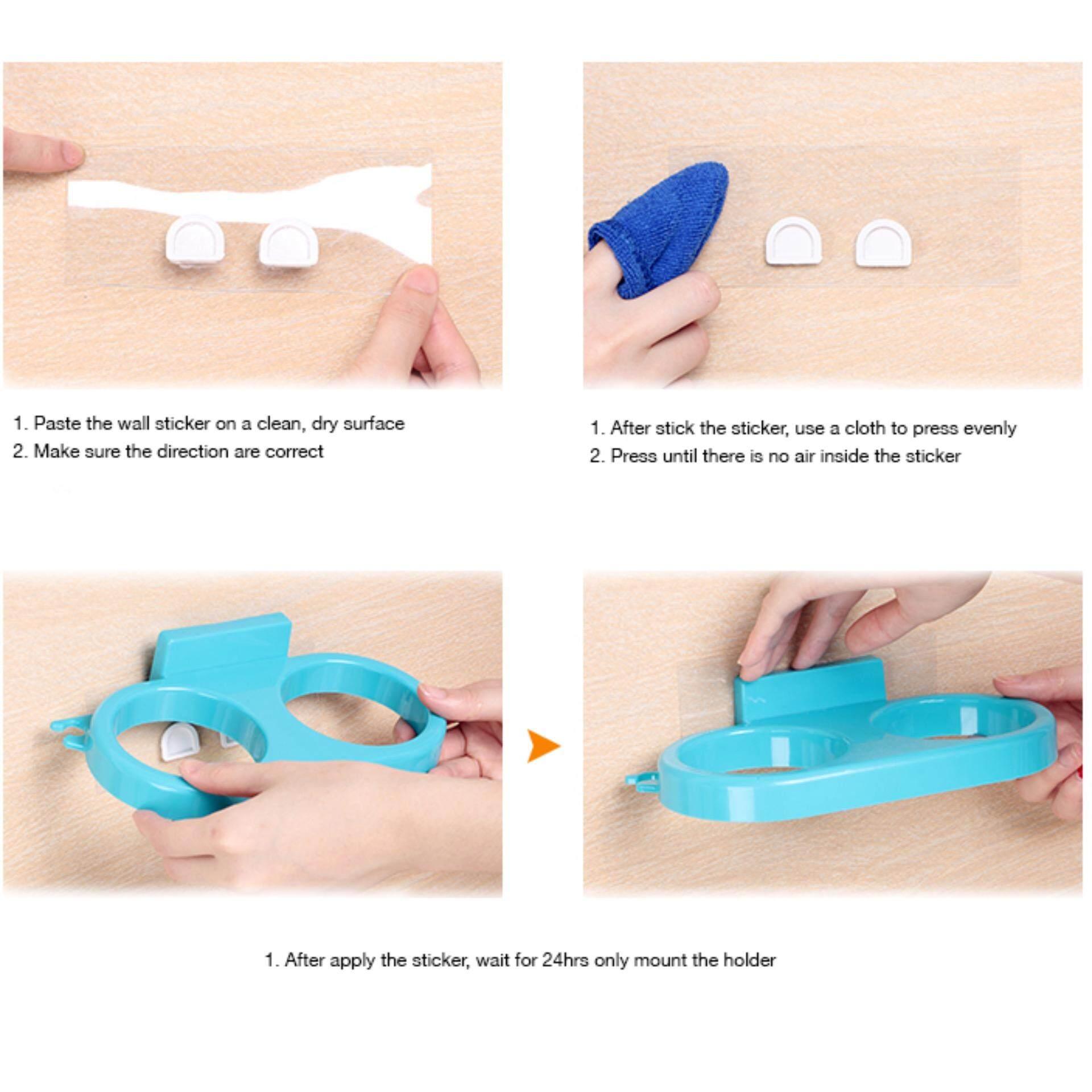 Multipurpose Toothbrush & Hair Dryer Holder