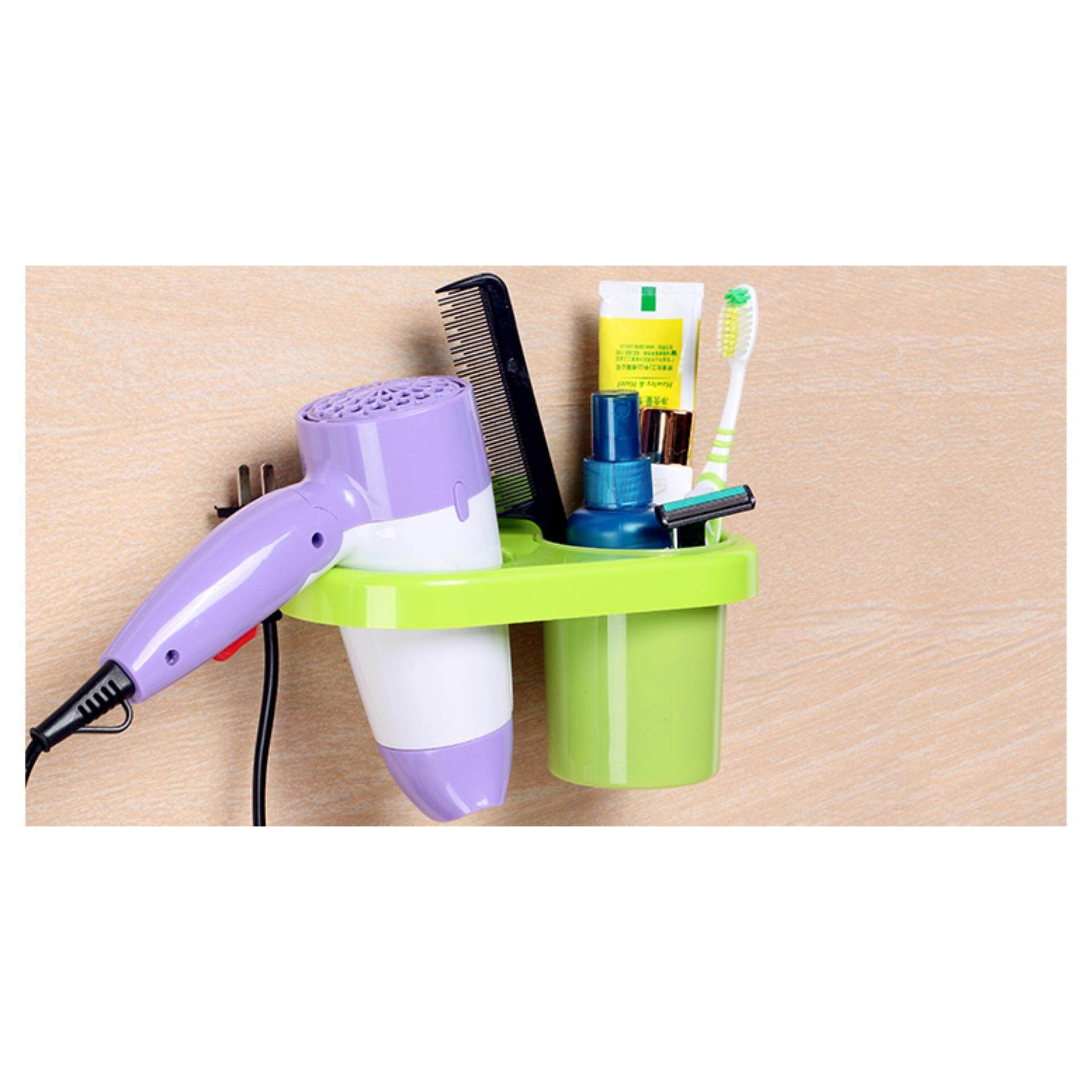 Multipurpose Toothbrush & Hair Dryer Holder