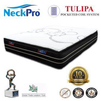 "Harga NeckPro 13"" Queen Pocketed Spring Mattress (Tulipa)"