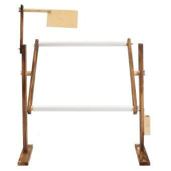 Needlework Stand Lap Table Wood Embroidery Hoop Frame Cross Stitch Sewing Tool -