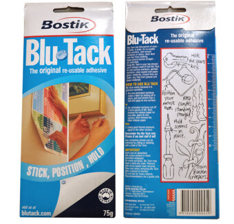 Harga New Blu tack blue plastic blue small plastic stick metal paintingpaintings wall glue 75g