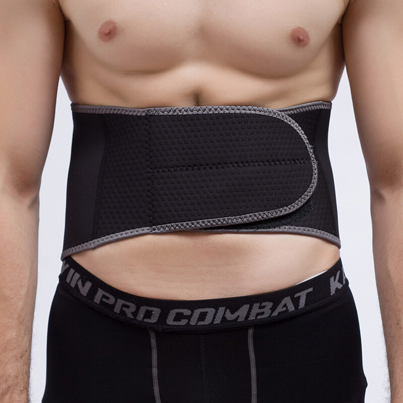 New fitness breathable wearable belt professional sports protective gear waist support supplies (Size:L) A11YDHJ0730