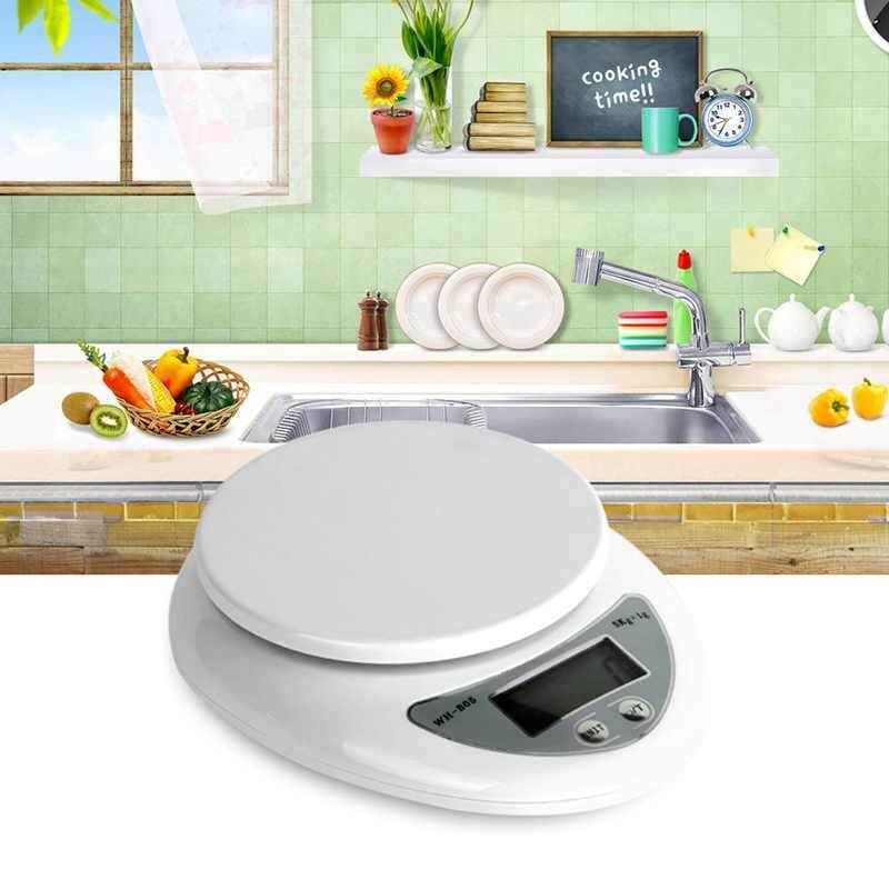 NEW For Diet Bodybuilding Food Baking Weigh 5Kg 1g Digital Kitchen Scales Food Scale Balance Weight Electronic Scale - intl