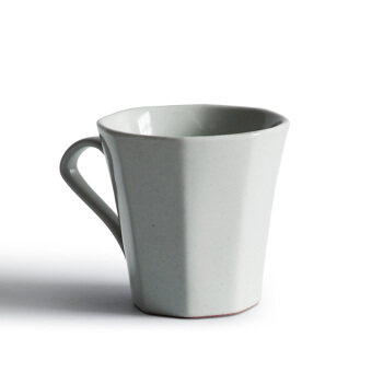 Nine soil handmade octagonal Coffee Cup Japanese-style commercial single product no. High Temperature Ceramic American hand punch coffee cup special
