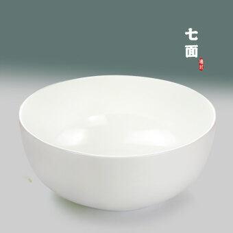 Nine swiss 7 unleaded bone china pure white bone china big bowl ramen bowl soup bowl ceramic bowl bone china bowl