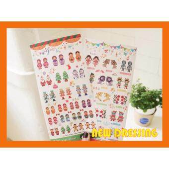 Harga NK164 - Russia Doll Deco Sticker