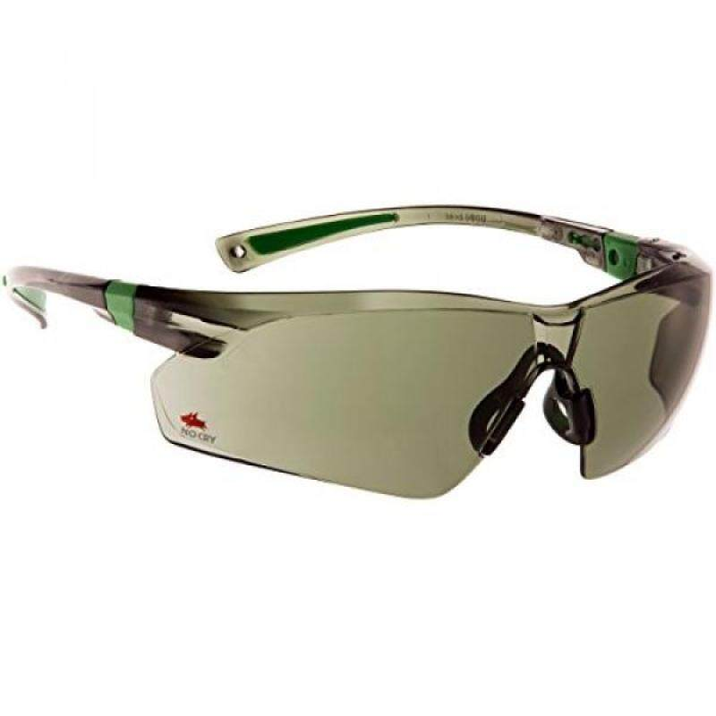 Buy NoCry Safety Sunglasses with Green Tinted Scratch Resistant Wrap-Around Lenses and No-Slip Grips, UV 400 Protection. Adjustable, Black & Green Frames Malaysia