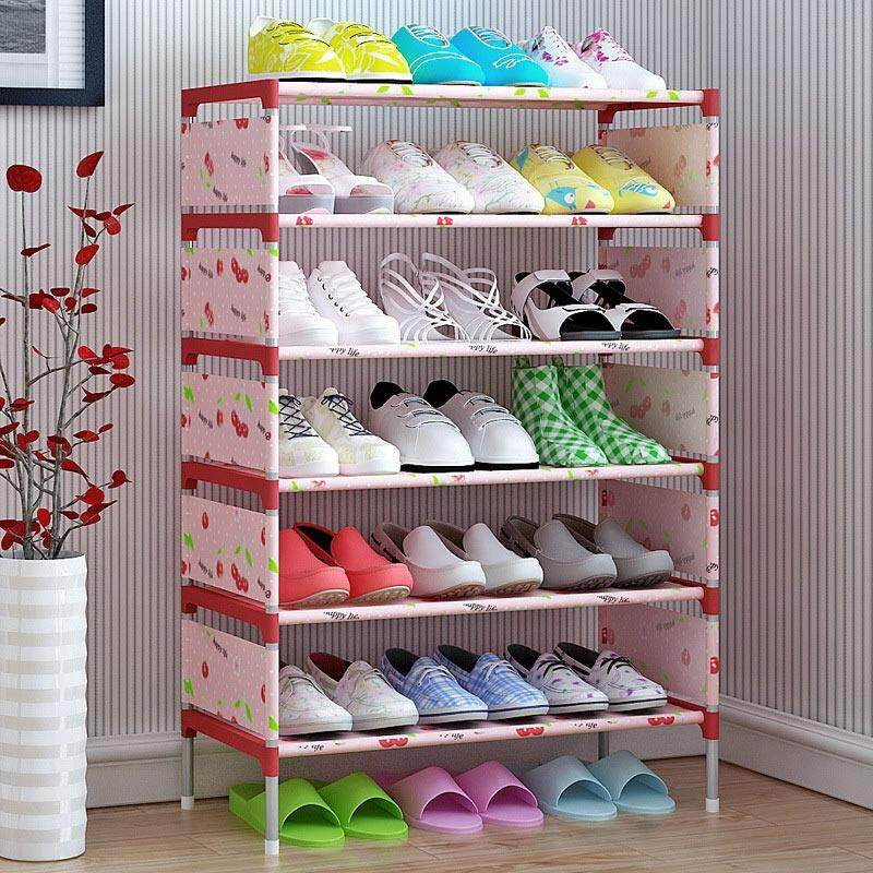 Non-woven 5 Tier Shoes Rack Shoe Cabinets Stand Shelf Shoes Organizer Living Room Bedroom Storage Furniture - intl