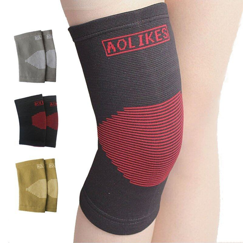 Nylon Knee Pads for Volleyball Elastic Breathable Basketball Kneepads Sports Knee Support Brace