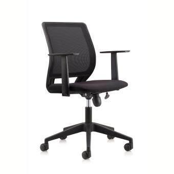 "OFFICE CHAIR \""NECO\"" Modern Ergonomic Mesh Medium Back Executive Computer Desk Task Office Chair (BLACK)"