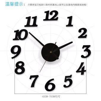 OLL StickerDecor CLK EVA010 DIY Removable PVC Wall Sticker Wall Clock Mute Wall Clock