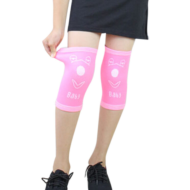 Buy One Pair Bright Cute Cartoon Print Knee Sleeves Knee Warmer Pad Knee Support for Kids Children Juniors 3-15 Year, for Sports GYM Cycling Climbing Dancing Basketball Small Pink Malaysia
