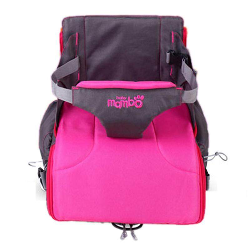 ooplm Multi-Function Mummy Bag Travel Booster Seat Diaper Bag Backpack for Baby, Roseo