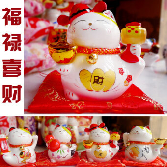 Opening multi-small home creative piggy bank lucky cat coin bank