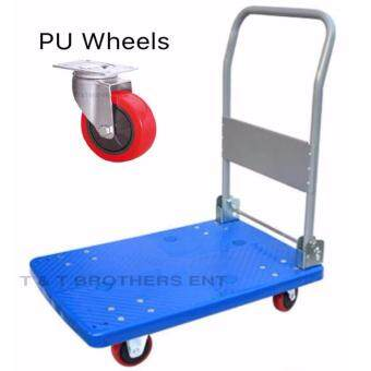 Harga ORIGINAL MARKSMAN 300kg Foldable PVC Platform Hand Truck Trolley with PU Wheels (Manufacturer Direct Supply)