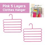 OSUKI 5 Layer Clothes Hanger (Pink) (x2)