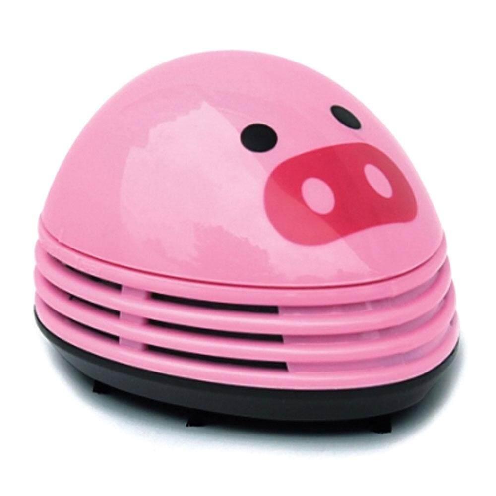 ouhofus Electric Desktop Vacuum Cleaner Mini Dust Cleaner Pink Pig Prints Design - intl
