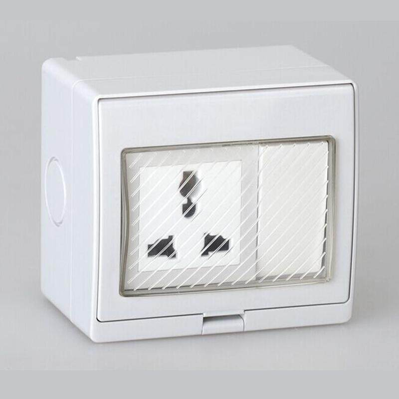Buy Outdoor Electrical Switch Socket Power Point Plug Waterproof Switch Box Home Wall Mount Weatherproof Outside Malaysia