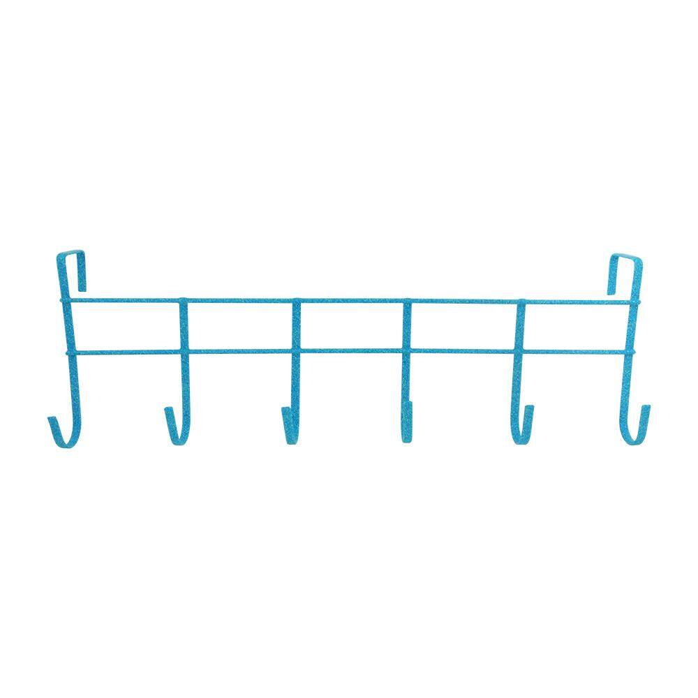 Over The Door 6-Hook Rack - Blue [170048B]