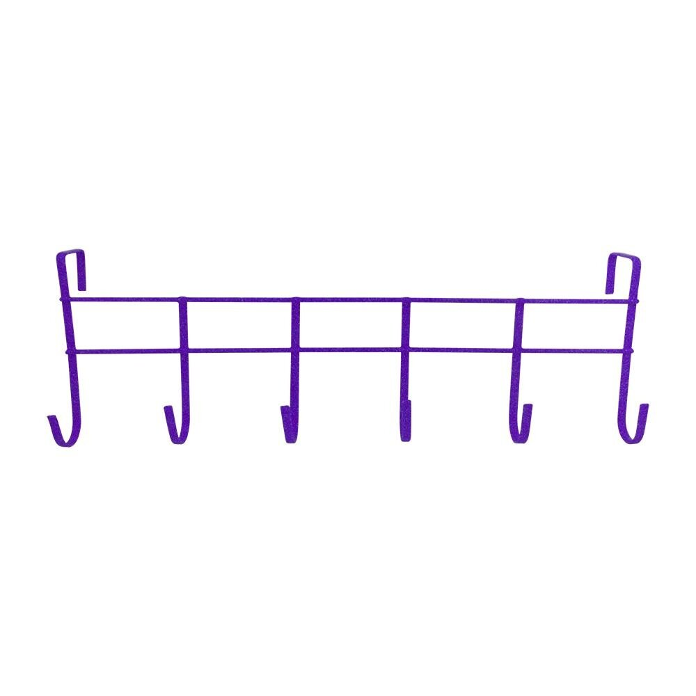 Over The Door 6-Hook Rack - Purple [170048P]
