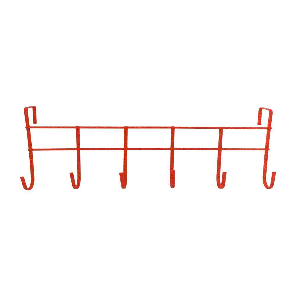 Over The Door 6-Hook Rack - Red [170048R]