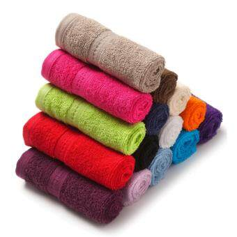 Harga Pack of 10 Face Towels Cotton Assorted Colours & Designs 30 x30 cm