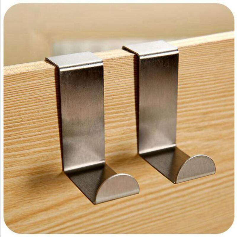 Pack of 6 S Shaped Brushed Stainless Steel Reversible Over Door Kitchen Cabinet Unit Draw Cloth Towel Bag Hanger Hook Space Saving Organizer Latch Hook Kits