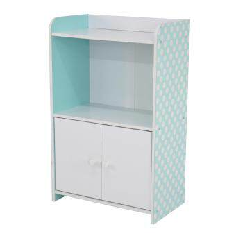 Pamica SV6513 Lily 2 Tier Bookcase Storage Shelf with Door