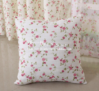 Pastoral small floral pillow bedside chair sofa cushion pillow back textile fabric curtain promotions