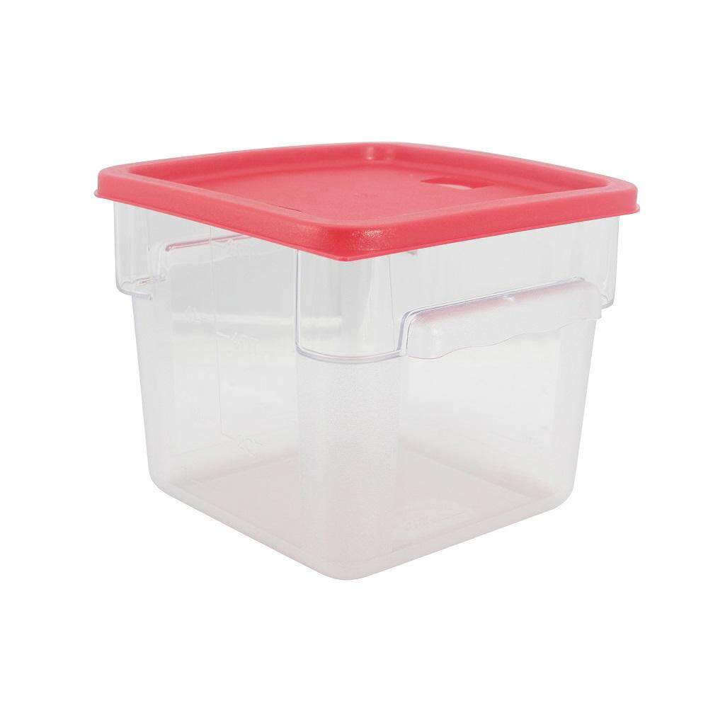 PC Square Food Container With Cover - 6 Litre