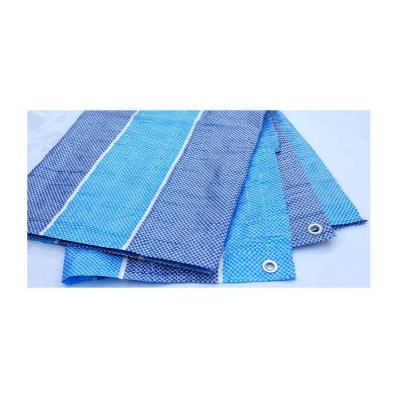 Buy PE Tarpaulin (Blue White) 8' x 10' Ready Made Canvas Cover Sheet with built-in  ropes & grommets Malaysia