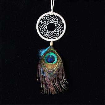Peacock Feathers Dream Catcher Wall Hanging Car Hanging OrnamentGift