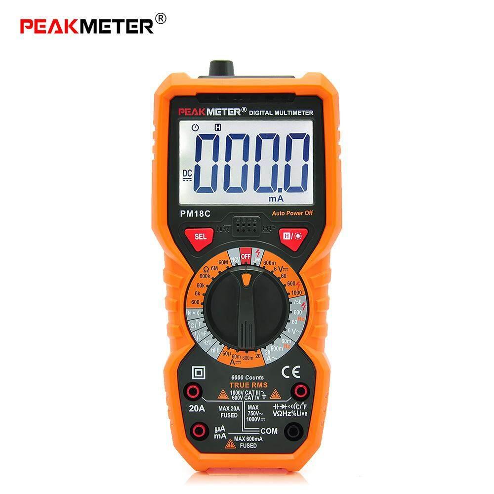 โปรโมชั่น Peakmeter Pm18C High Precision Digital Multimeter Ac Dc Voltage Current Temperature Intl Peakmeter ใหม่ล่าสุด