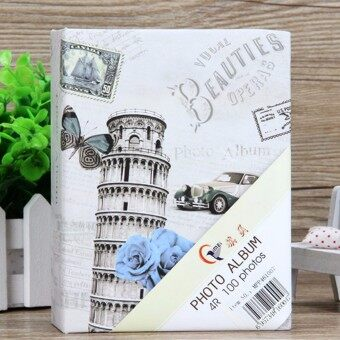 Photo Album 100 Photos Storage Case Family Wedding Memory Picture Film Book Leaning Tower