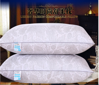 Pillow pillow health care neck pillow five-star hotel white feather velvet pillow antibacterial anti-mite pillow