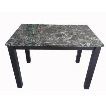 PJY Faux Marble Dining Table (Black)
