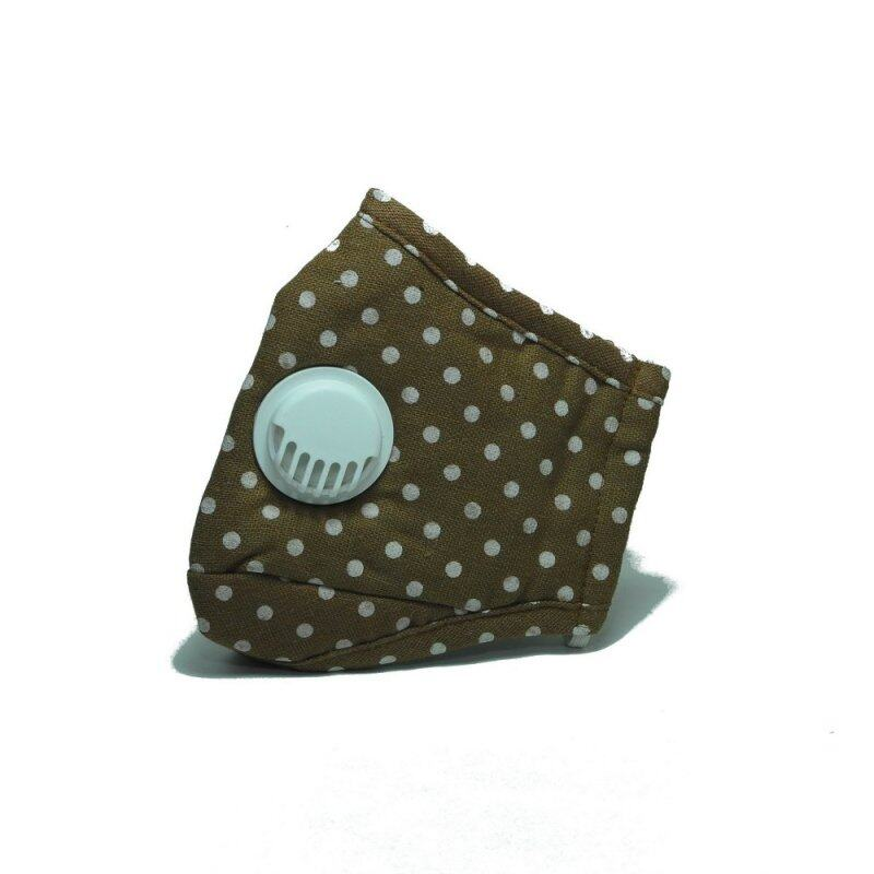Buy PM 2.5 Adult Face Mask with Filters (Ventilation Valve Type) - BROWN DOTS Malaysia