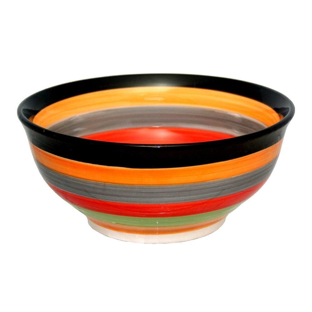 Porcelain Rainbow Colour Bowl - 8.5 inch
