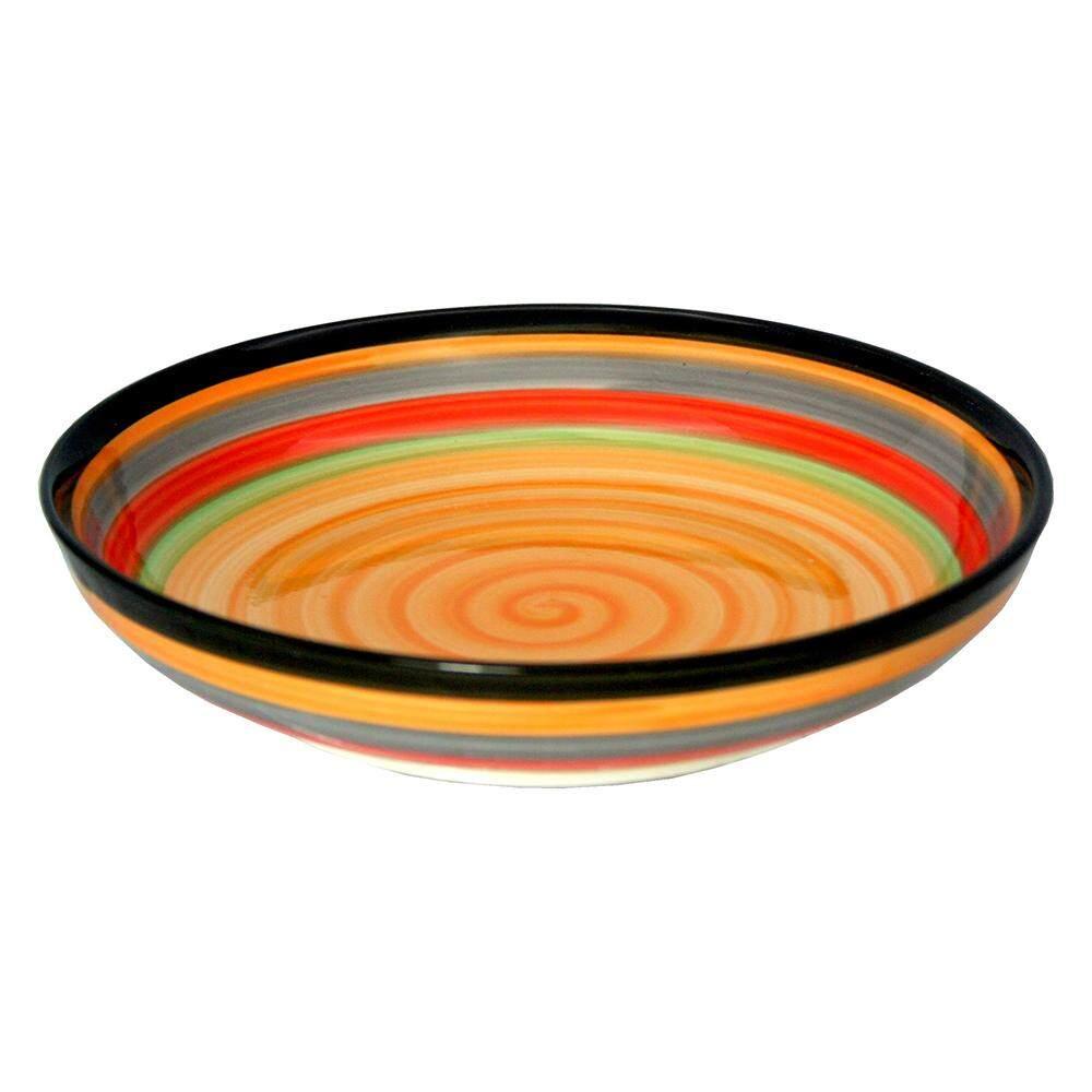 Porcelain Rainbow Colour Rice Plate - 8.0 inch [FS-RP8]