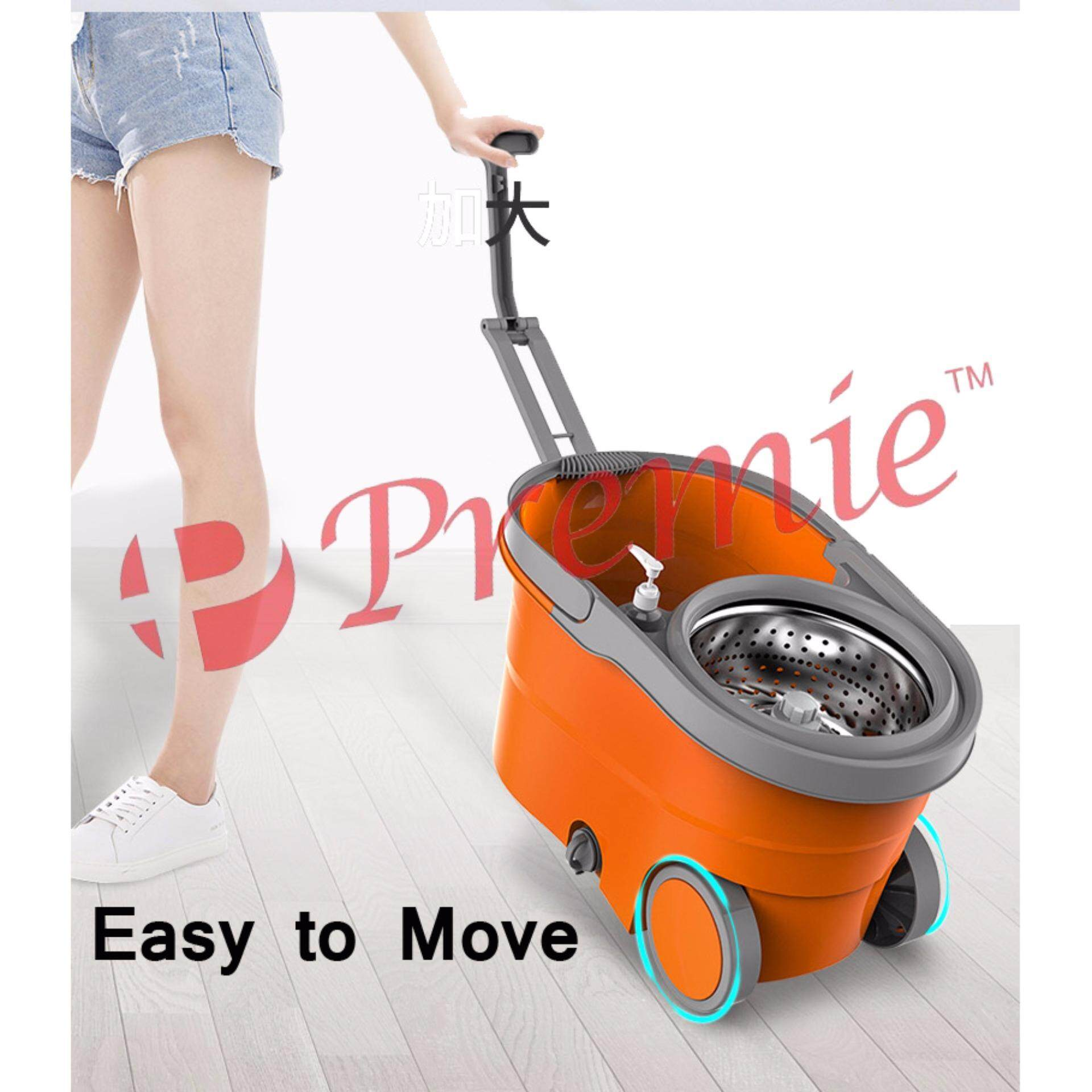 [HOT SELLING] 360 Degree Spin Mop / Easy Micro Fiber Spin Mop With Stainless Steel Basket