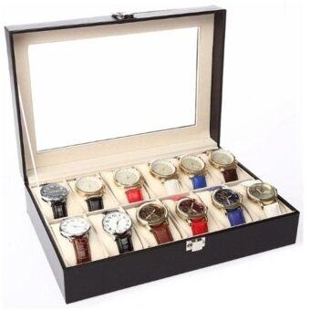 Premium PU Leather Watch Display & Storage Box Case 12 Slot