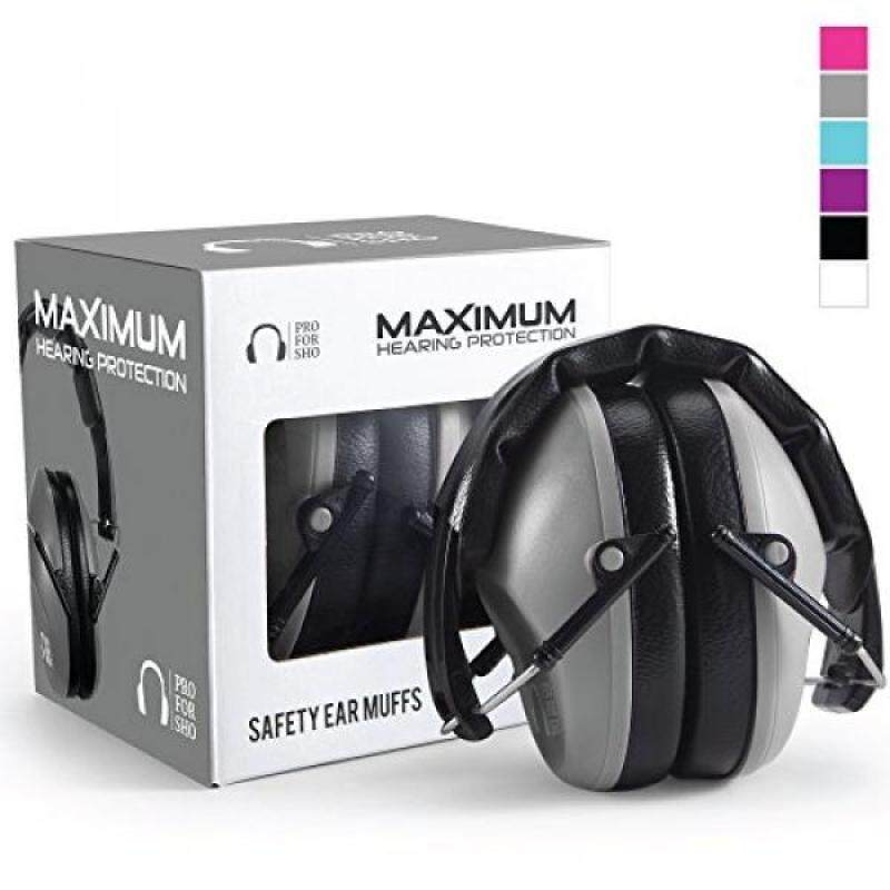 Pro For Sho 34dB Shooting Ear Protection - Special Designed Ear Muffs Lighter Weight - Maximum Hearing Protection , Grey