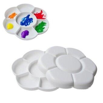 Professional 7 Holes Plum blossom Color Palette Gouache WatercolorPaint Palette PP Plastic Palette Watercolor Palette