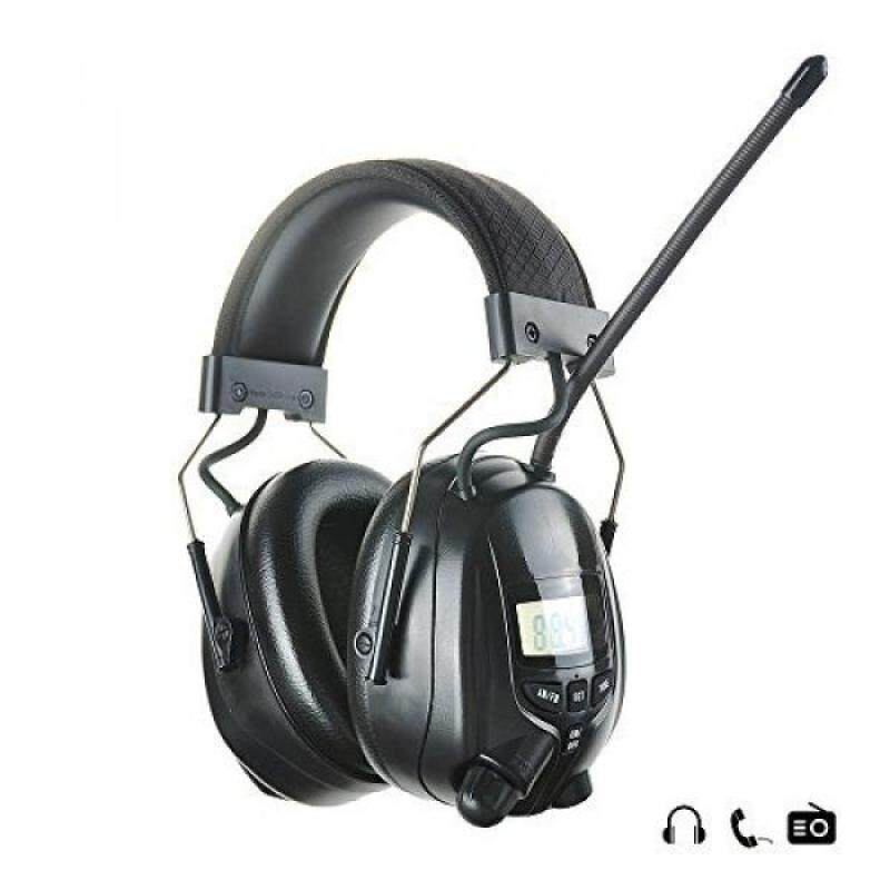 Buy Protear Radio Safety Earmuffs Audio Tough Sound Electronic Noise Reduction Ear Defenders Hearing Protector for Shooting Mowing Ear Protection Headphones- AM/FM Radio- Phone/MP3 Stereo Jack-NRR 25dB Malaysia