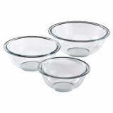 [ iiMONO ] Pyrex Prepware 3-Piece Glass Mixing Bowl Set