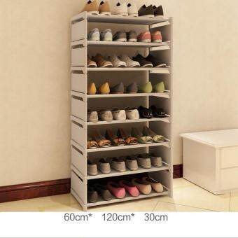 Harga QQ Simple assembling dustproof shoes cabinet White