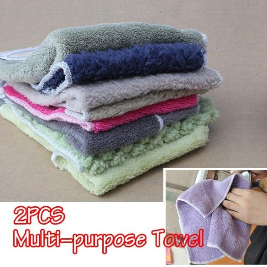 Home · Hpx Nano Absorbent Microfiber Clean Towel Kitchen Handkerchief Dishcloths 2550cm Purple Intl; Page