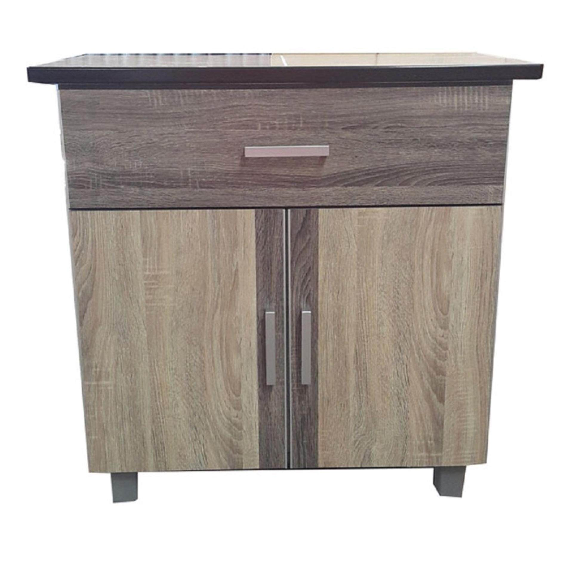 Ready-Fixed 2.5 Feet Kitchen Cabinet With Mosaic Top Pre Order